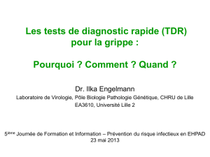 Les tests TDR : Pourquoi ? Comment - CCLIN Paris-Nord