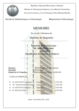 MEMOIRE - Université des Sciences et de la Technologie d`Oran