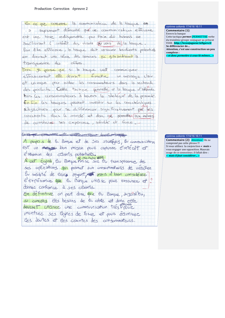 Production Correction Epreuve 2