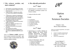 Option de Sciences Sociales