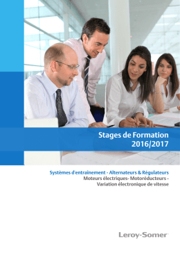 Leroy-Somer Stages de Formation - Catalogue