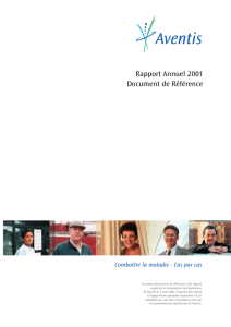 Rapport Annuel 2001