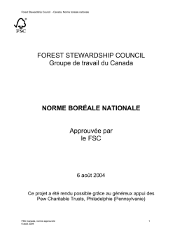 norme boréale nationale