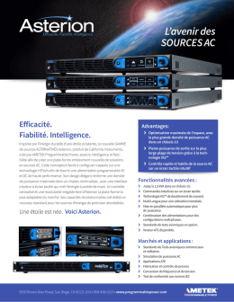L`avenir des SOURCES AC - AMETEK Programmable Power