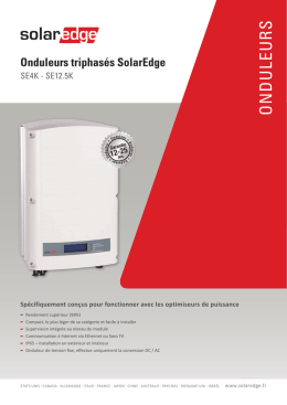 SOLAREDGE Onduleurs triphasés