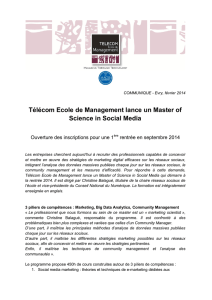 TEM lance un Master of Science in Social Media