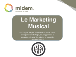 Le Marketing Musical - Don`t believe the Hype