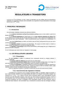 REGULATEURS A TRANSISTORS