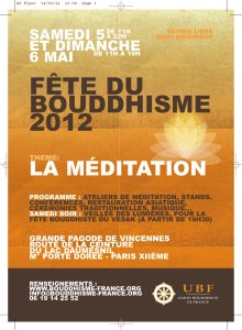 Flyer Fête du bouddhisme 2012