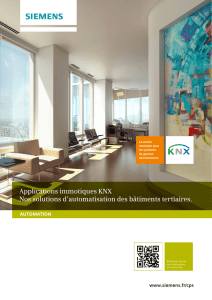 Applications immotiques KNX Nos solutions d