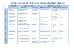 Grammaire Conjugaison Orthographe lexicale Orthographe