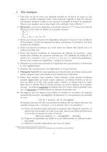 Feuille d`exercice
