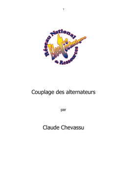 Couplage des alternateurs Claude Chevassu