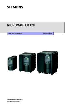 micromaster 420 - Siemens Support