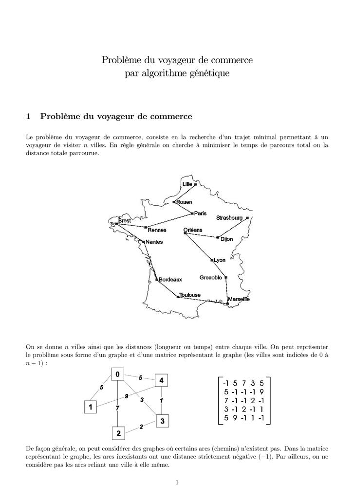 chemin optimal dans un graphe