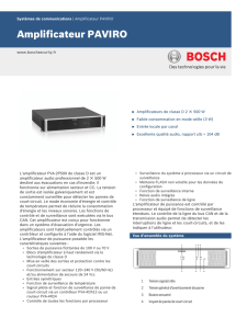 Amplificateur PAVIRO - Bosch Security Systems