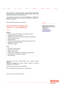 Conducteur(trice) d`engins (h/f) Caces 2 - 4