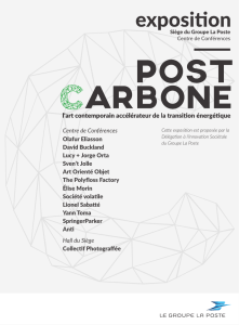 Catalogue de l`exposition Post Carbone