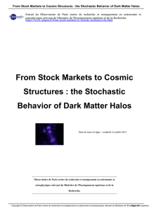 From Stock Markets to Cosmic Structures : the Stochastic Behavior