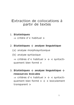 Extraction de collocations à partir de textes