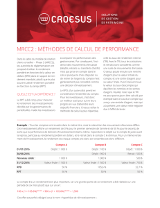 mrcc2 : méthodes de calcul de performance