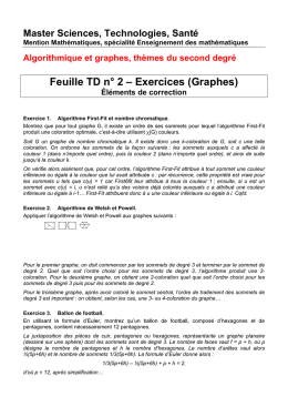 Feuille TD n° 2 – Exercices (Graphes)