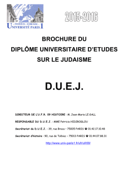 brochure duej 2015-2016 - Université Paris 1 Panthéon