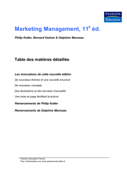 Marketing Management, 11 éd.