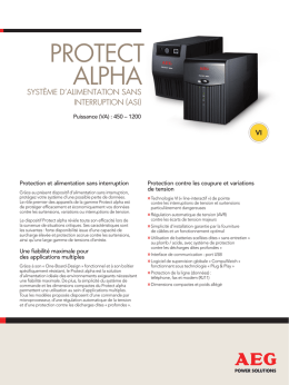 PROTECT alPha - AEG Power Solutions