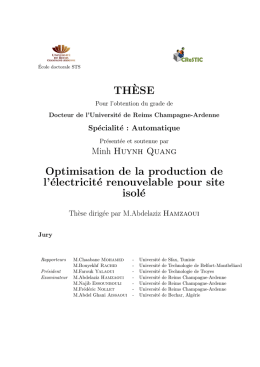 TH`ESE Optimisation de la production de l`électricité