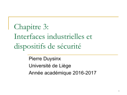 interfaces industrielles et dispositifs de securite