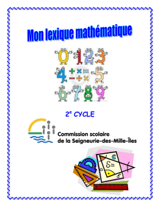 Lexique math 2e cycle