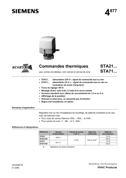 4877 Commandes thermiques STA21... STA71