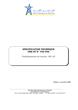 STE ONE N°T46-P46 transformateurs de courant 420