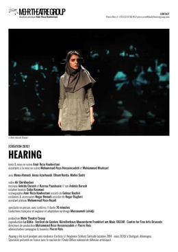 Hearing - Mehr Theatre Group