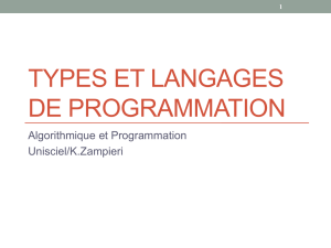 Types et langages de programmation Fichier