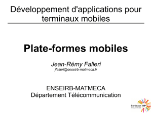 Plate-formes mobiles