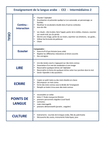 ORAL LIRE ECRIRE POINTS DE LANGUE CULTURE