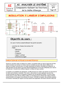 Modulation à largeur d`impulsion