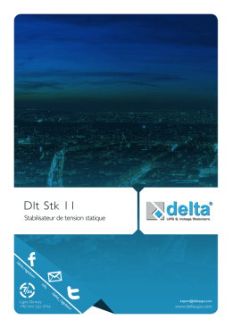 DLT STK 11 | Stabilisateur De Tension Statique