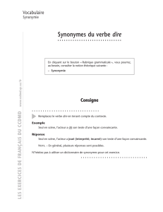 Synonymes du verbe dire