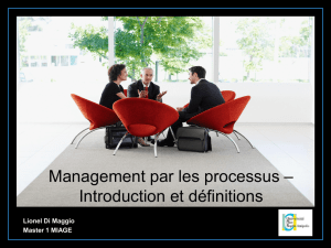 Management par les processus – Introduction et