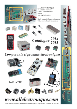 Catalogue - all electronique