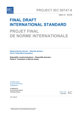 final draft international standard projet final de norme internationale