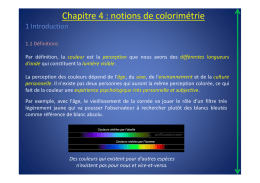 Chapitre 4 : notions de colorimétrie (version light pour B1)
