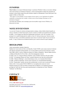 synopsis note d`intention biographie contact