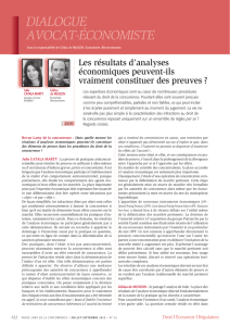 DIALOGUE AVOCAT-ÉCONOMISTE
