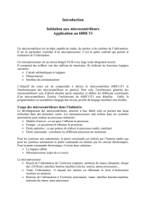 Introduction Initiation aux microcontrôleurs Application au 68HC11
