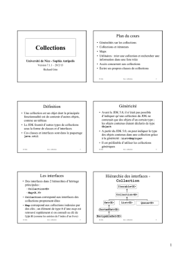 Collections - Département Informatique