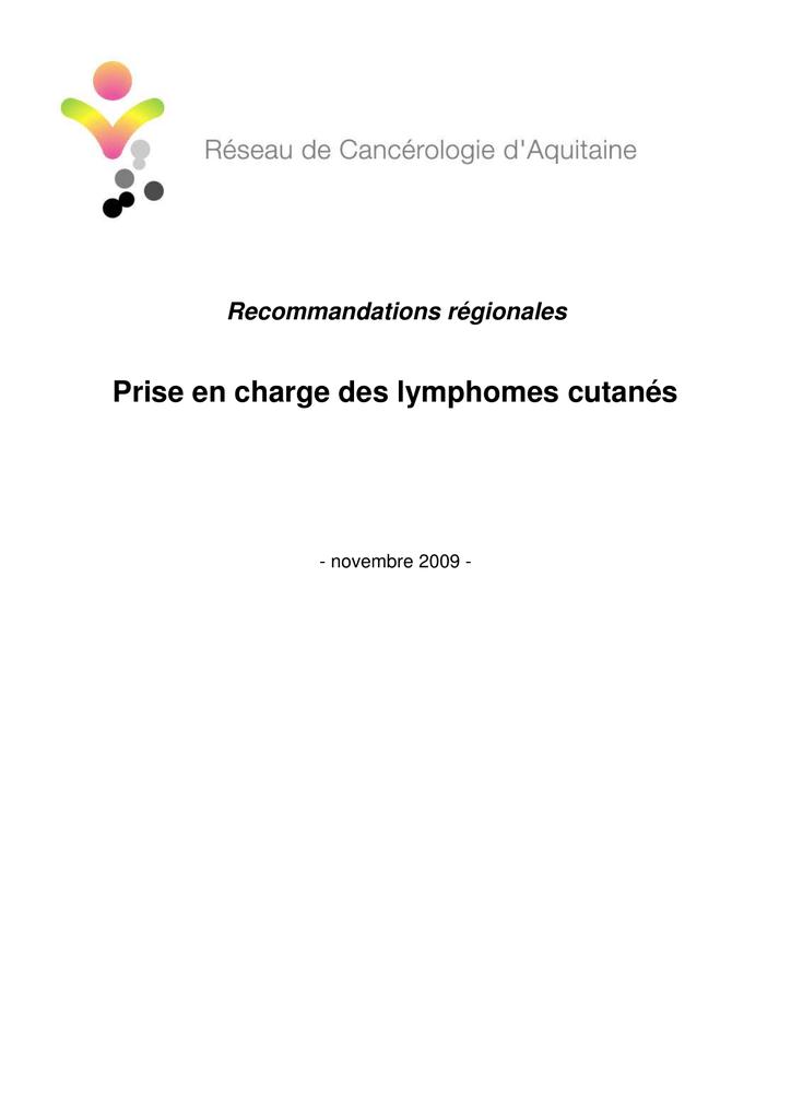 synthèse lymphomes cutanés - Réseau de Cancérologie d`Aquitaine